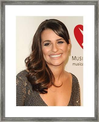 Lea Michele In Attendance For 2011 Framed Print