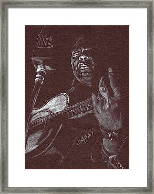 Leadbelly Framed Print by Kathleen Kelly Thompson