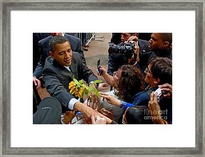 Leader Of The Free World Framed Print by Gib Martinez