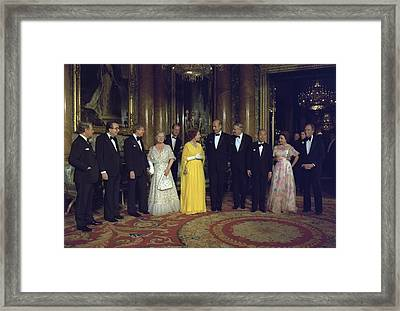 Leaders From Canada France The Federal Framed Print