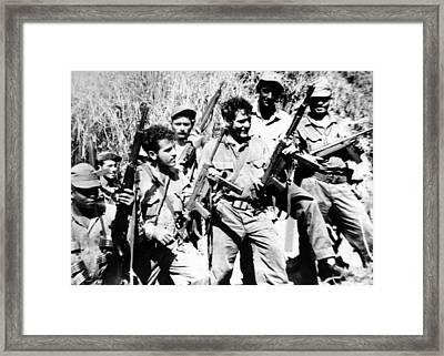 Leaders Of The Anti-castro Guerillas Framed Print by Everett