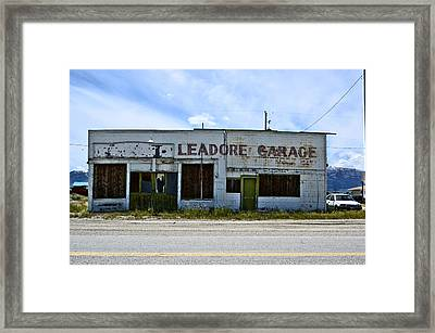 Leadore Garage Framed Print