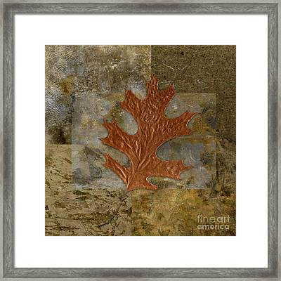 Leaf Life 01 -brown 01b2 Framed Print by Variance Collections