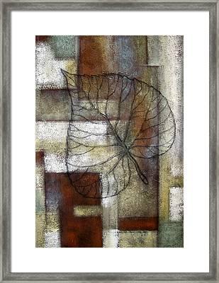Leaf Whisper 1 Framed Print by Leon Zernitsky