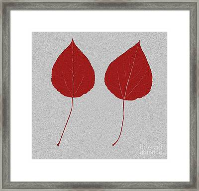 Leafs Rouge Framed Print by Bruce Stanfield
