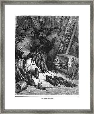 League Of Rats, 1868 Framed Print by Granger