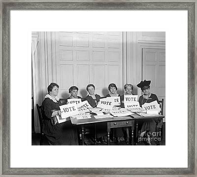 League Of Women Voters Framed Print by Granger