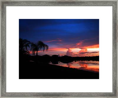 Leaking Clouds Framed Print