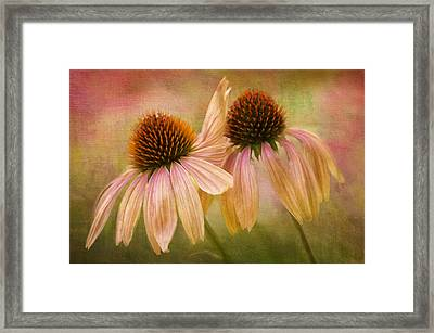Lean On Me Framed Print by Donna Eaton