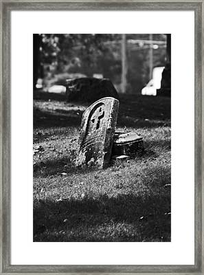Leaning Cross Framed Print