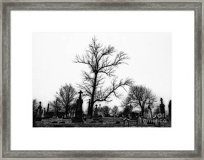 Leaning Crosses Framed Print by Jeff Holbrook