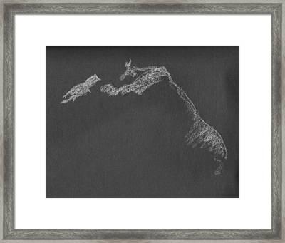 Leaning Framed Print