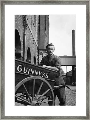 Leaning On Barrow Framed Print by Bert Hardy