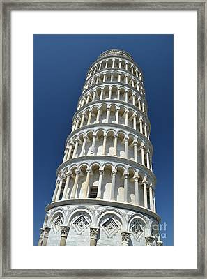 Framed Print featuring the photograph Leaning Tower Of Pisa by Kathleen Pio