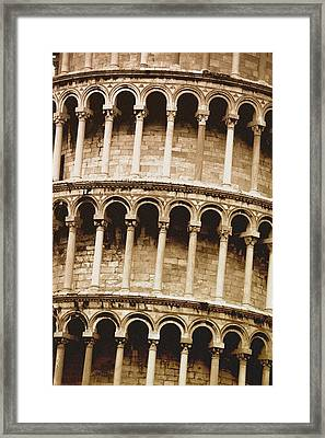 Leaning Tower Of Pisa Tuscany Italy Framed Print by Carson Ganci