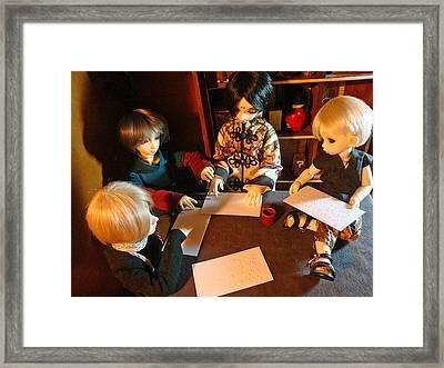 Learning Braille Framed Print