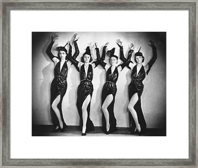 Leather Dancers Framed Print by Sasha