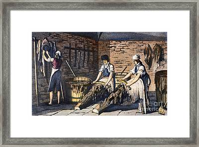 Leather Manufacture, 1800 Framed Print by Granger