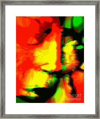 Leave Me ....but... I Love You - He Said Framed Print by Fania Simon