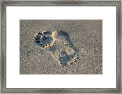 Leave Your Tao Footprint As Opposites Work The Sine Wave Of Existence Framed Print
