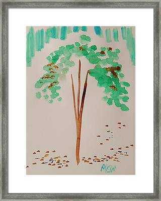 Leaves In Change Framed Print by Mary Carol Williams