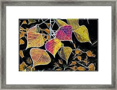 Leaves Framed Print by Judi Bagwell
