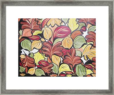Leaves Of Autumn Framed Print by Rachel Carmichael