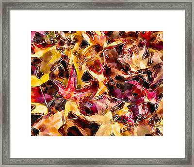Leaves Of Glass Framed Print by Marilyn Sholin