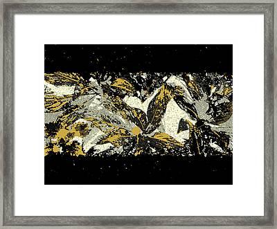 Leaves Of Gold Framed Print by Katharine Birkett