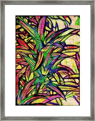 Leaves Of Imagination Framed Print by Judi Bagwell