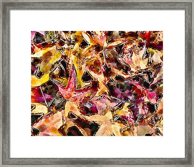 Leaves On Acid Framed Print by Marilyn Sholin