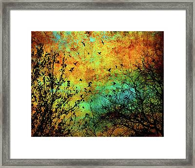 Leaves To Feathers Framed Print