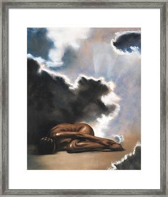 Leaving Eden Eve Framed Print by L Cooper