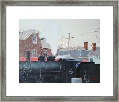 Leaving The Station Framed Print