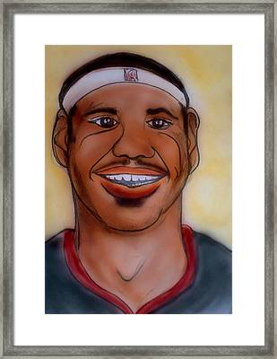 Lebron James Framed Print by Pete Maier