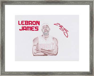 Lebron James Framed Print by Toni Jaso