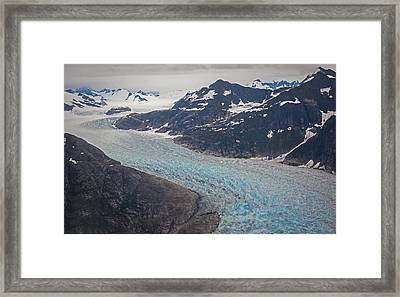 Leconte Glacial Flow Framed Print by Mike Reid
