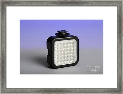 Led Light Framed Print