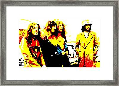 Led Zeppelin Framed Print by Paula Sharlea