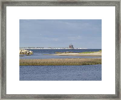 Ledge Lighthouse Framed Print by Patricia McKay
