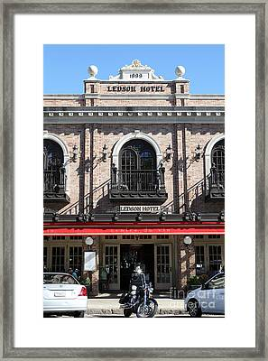 Ledson Hotel - Downtown Sonoma California - 5d19271 Framed Print by Wingsdomain Art and Photography