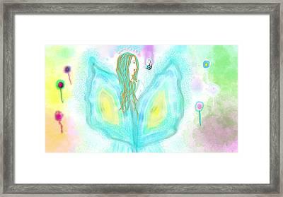 Leelavy Fairy / Fada Leelavy Framed Print by Rosana Ortiz