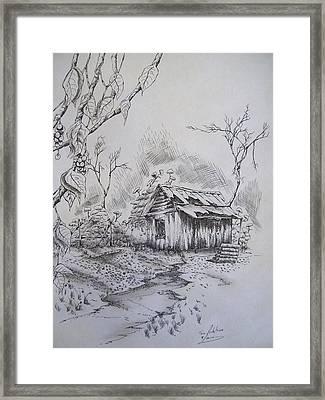 Left Alone Framed Print