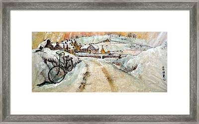 Framed Print featuring the painting Left By The Side Of The Road by Debbi Saccomanno Chan