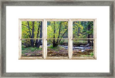 Left Hand Creek Rustic Window View Colorado Framed Print by James BO  Insogna