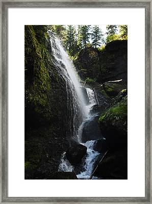Left Hand Falls II Framed Print by Arlyn Petrie