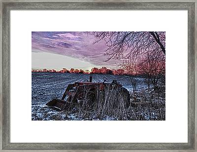 Left In The Cold Framed Print