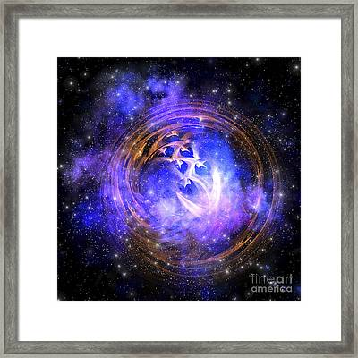 Leftover Remnants From A Supernova Framed Print by Corey Ford