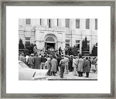 Legal Retaliation For Montgomery Bus Framed Print by Everett
