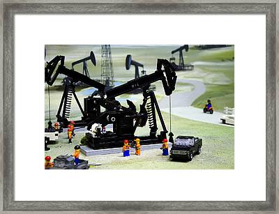 Lego Oil Pumpjacks Framed Print
